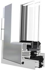 Domal top TB65 finestra in alluminio